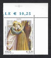 Italia 2003; Affreschi Della Cappella Degli Scrovegni A Padova; Francobollo Di Angolo Superiore. - 2001-10:  Nuovi