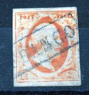 Pays-Bas Guillaume III PAPIER EPAIS  15 C Orange - 1852-1890 (Guillaume III)