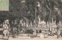 Sénégal Saint Louis Marché De Sor  Afrique Occidentale Française + Timbre Cachet 1907 - Sénégal