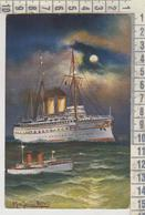 ILLUSTRATORI NAVE SHIP HOHENZOLLERN UND DEPESCHENBOOT FIRMATA 1915 - Other Illustrators