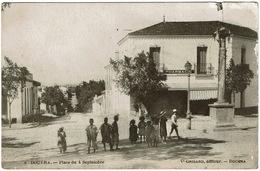 CPA Algérie. Douera. Place Du 4 Septembre, Animée, 1915 - Andere Steden