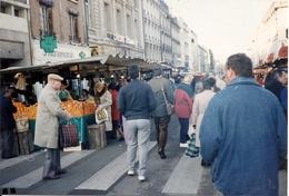 VERSAILLES - Photo Carte , Le Marché Déplacé Rue De La Paroisse,1986 - Versailles