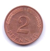 BRD 1992 A: 2 Pfennig, KM 106a - 2 Pfennig