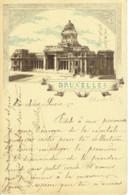 Bruxelles  Carte Litho Palais De Justice Précurseur 1897 - Brussel (Stad)
