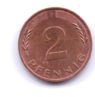 BRD 1990 G: 2 Pfennig, KM 106a - 2 Pfennig