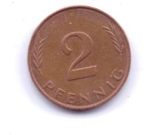 BRD 1988 F: 2 Pfennig, KM 106a - 2 Pfennig