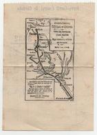 Plan De Reseaux De Chemin De Fer De Córdoba, Argentine, Au Dos De Reçu De 1899 - World