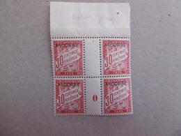 ANDORRE  TAXE P3 * *    BLOC DE QUATRE  AVEC MILLESIME  LUXE - Unused Stamps