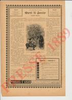 Presse 1889 L'Evêque De Cantorbéry Et Le Joueur D'échecs Jeu Chess Publicité Eau De Pougues Saint-Léger 229CH5 St - Vieux Papiers