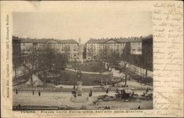 Cp Torino Turin Piemonte, Piazza Carlo Felice Vista Dall'alto Della Stazione - Italia