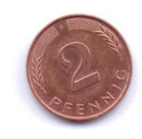 BRD 1996 F: 2 Pfennig, KM 106a - 2 Pfennig
