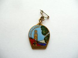 Medaglia Lago Di Garda Raduno Escursionistico 6 Settembre 1936 Smaltata - Jetons & Médailles