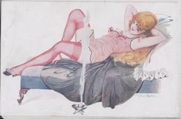 PEPIN Illustrateur Série Les Cinq Sens De Pépinette Femme Dénudée Illustration Dessin Nu Féminin Erotisme Cigarette - Pepin