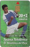 Peru - Telefónica - Football, Colección Ñol Solano #4, 20+2Sol, 50.000ex, Used - Peru