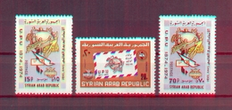 Syria 1974 - The 100th Anniversary Of UPU - Stamps 3v - Complete Set -  MNH** - Excellent Quality - Syria