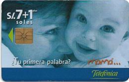 Peru - Telefónica - Día De La Madre 1999, 7+1Sol, 05.1999, 8.000ex, Used - Peru