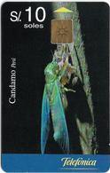 Peru - Telefónica - Candamo, Chicharra, 10Sol, 08.1999, 50.000ex, Used - Pérou