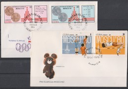 Olympics 1980 - Volleyball - CUBA - 2 FDC Cover - Summer 1980: Moscow