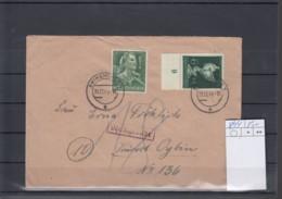 Deutsches Rech Michel Kat.Nr.  894 MiF Grün Frankatur - Lettres & Documents