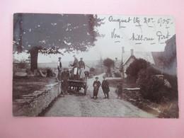 Card Photo_MILBORNE PORT_Sherborne_Plow Horses , Farmers With Children_posted 1905 - Otros