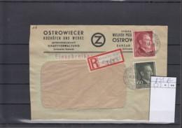 Deutsches Rech Michel Kat.Nr.  GG 84 MiF Reco Ostrowiec - Occupation 1938-45