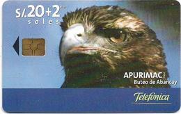 Peru - Telefónica - Apurimac - Buteo De Abancay, Chip Gem5 Black, 20+2Sol, 04.2001, 50.000ex, Used - Peru