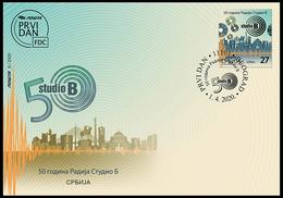 Serbia 2020. 50th Anniversary Of Radio Studio B, FDC, MNH - Serbie