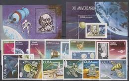SPACE - CUBA - 2 S/S+2 Sets MNH - Space