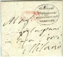 REGNO LOMBARDO VENETO-1816 - LETTERA CON TESTO, DA MANTOVA PER MILANO, TIMBRO DI ENTE PUBBLICO SOVRASCRITTO, MOTIVO???? - 1. ...-1850 Prephilately