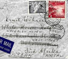 """Wien Vers Afrique Du Sud 1936 Sur Lettre Avec """" Reexpedition """". Voir 2 Scan - 1918-1945 1. Republik"""