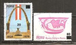Perú  Nº Yvert  691A, 691E (usado) (o) - Peru