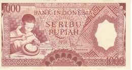 BILLETE DE INDONESIA DE 1000 RUPIAH DEL AÑO 1958 SIN CIRCULAR - UNCIRCULATED  (BANKNOTE) - Indonesien