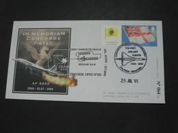 Enveloppe  IN MEMORIAM CONCORDE F-BTSC N°203  - AF 4950 - 2000-25.07 - 2005  **** EN ACHAT IMMEDIAT **** - Concorde