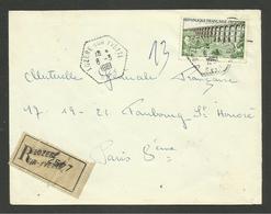 Dpt. 91 / Agence Postale Rurale LOZERE SUR YVETTE - ESSONNE / Recommandée 06.03.1961 - Postmark Collection (Covers)