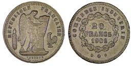 01395 GETTONE TOKEN JETON FICHA REPRO COIN PLASTIQUE REPUBBLIQUE FRANCAISE LIBERTE EGALITE FRATERNITE  20 FRANCS 1902 - Frankreich