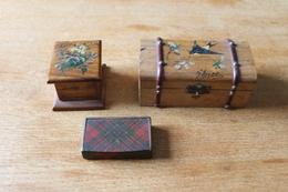 3 Boites à Timbres Philathelie  XIX Eme  De Collection - Cajas Para Sellos