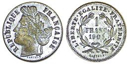 01486  GETTONE TOKEN JETON FICHA REPRO COIN PLASTIQUE REPUBBLIQUE FRANCAISE LIBERTE EGALITE FRATERNITE  A FRANC 1903 - Frankreich