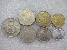 Czechoslovakia Socialist Time Coinset : 10 Haléřů - 5 Korun - Czechoslovakia