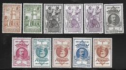 COTE FRANCAISE DES SOMALIS 1940 YT 177/187*/** - Nuovi