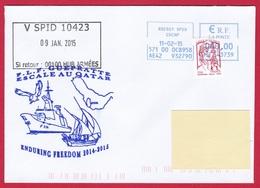 4798 Marine, FLF Guépratte, Mission GEAOM 2016, Fête Jeanne D'Arc, Oblit. Manuelle SPID Roissy Oiseau  10-06-2016, Maria - Posta Marittima