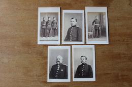Photos Guerre De 1870 1871 Troupes Allemandes 10 Clichés - Guerra, Militares