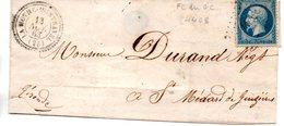 France :  Lettre Avec  PC Du Gc  4408 La Mothe Montravel - Marcophilie (Lettres)