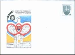 1998 : 5° Rencontre Des Présidents Des Pays D'Europe Centrale, Neuf COB 26 Michel U 26 - Postal Stationery