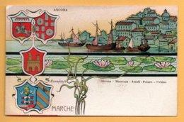 Illustrata Aurlanetto - Marche (Ancona, Macerata, Ascoli, Pesaro, Urbino) - Künstlerkarten