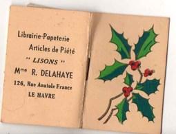 """Calendrier Publicitaire 1948 : Mme R.DELAHAYE - Le Havre Librairie-Papéterie """"LISONS"""" - Calendriers"""
