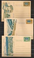 Liechtenstein 1973 - Entier Postal ** Cartes Postales, Montagne, Fontaine, Eglise, Triesenberg, Vaduz, Mauren, Kaufmann - Stamped Stationery