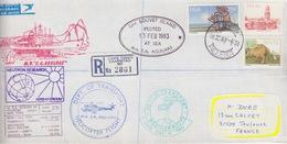 Polaire Sudafricain, L. Rec. N°528, 532, 563 Obl. Cape Town Le 18 II 83 + Bouvet Is.(13Feb83) + Hélico Et Agul Voyage 28 - Lettres & Documents