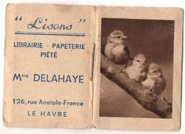 """Calendrier Publicitaire 1950 : """"LISONS"""" Librairie-Papéterie, Piété Mme DELAHAYE - Calendriers"""