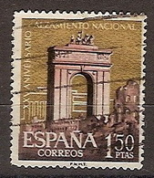 ESPAÑA SEGUNDO CENTENARIO USADO Nº 1356 (0) 1,5P ROJO. ALZAMIENTO NACIONAL - 1931-Aujourd'hui: II. République - ....Juan Carlos I