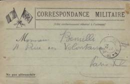 Correspondance Militaire à Destination De Paris XV. - Marcophilie (Lettres)
